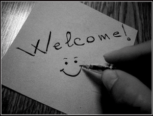 Welcome Pen Smilie